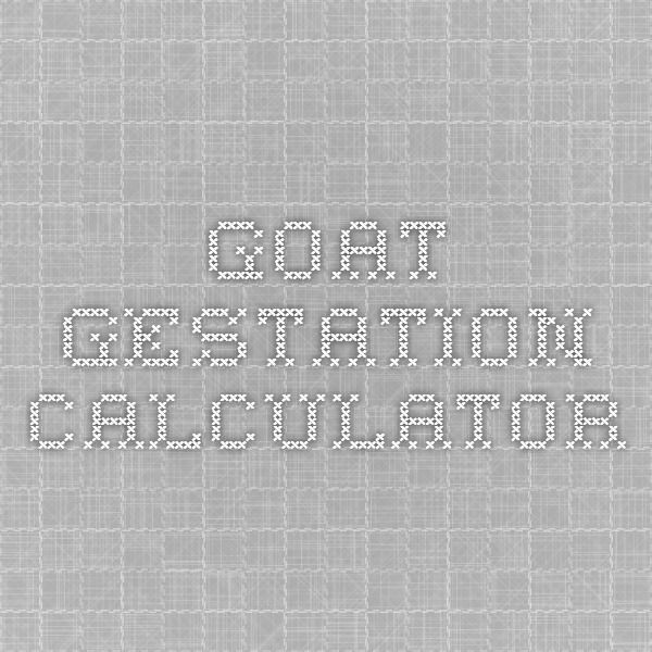 Goat Gestation Calculator