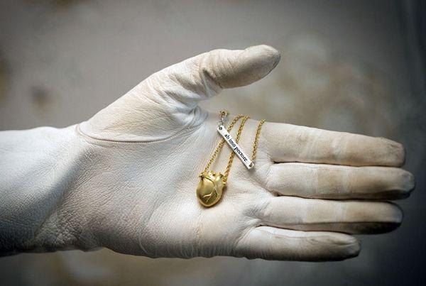 bjørg ANATOMIC HEART necklace