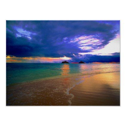 Tropical Island Beach Poster - photo gifts cyo photos personalize