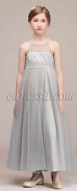 c7e2dc338 Gray Children Wedding Flower Girl Dress (27192408) in 2019 ...