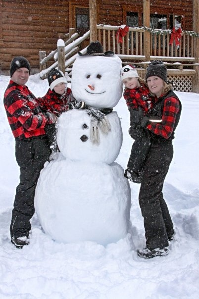 A family christmas picture idea~ winter