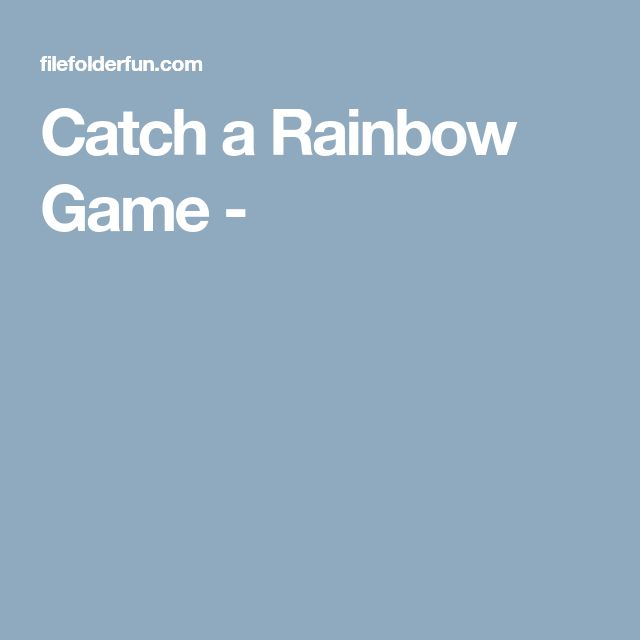 Catch a Rainbow Game -