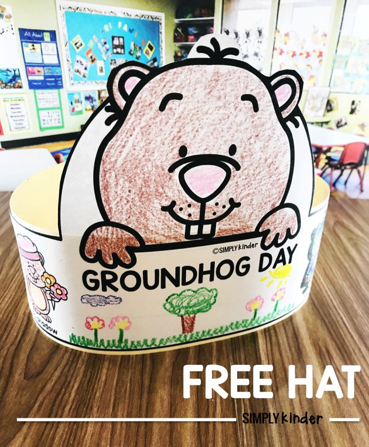 Groundhog Day is such a fun day for kindergarten, preschool, and frist grades. We want to help you celebrate with this fun and  Free Groundhog Day hat!