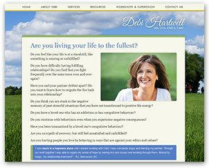 A web site we designed for Debi Hartwell; a therapist who offers specialized therapy services to individuals, couples and youth.