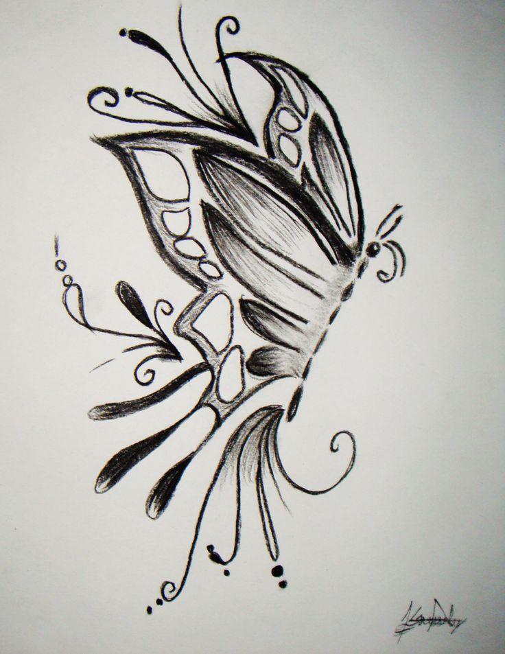 Pics For Gt Dibujos A Lapiz De Mariposas