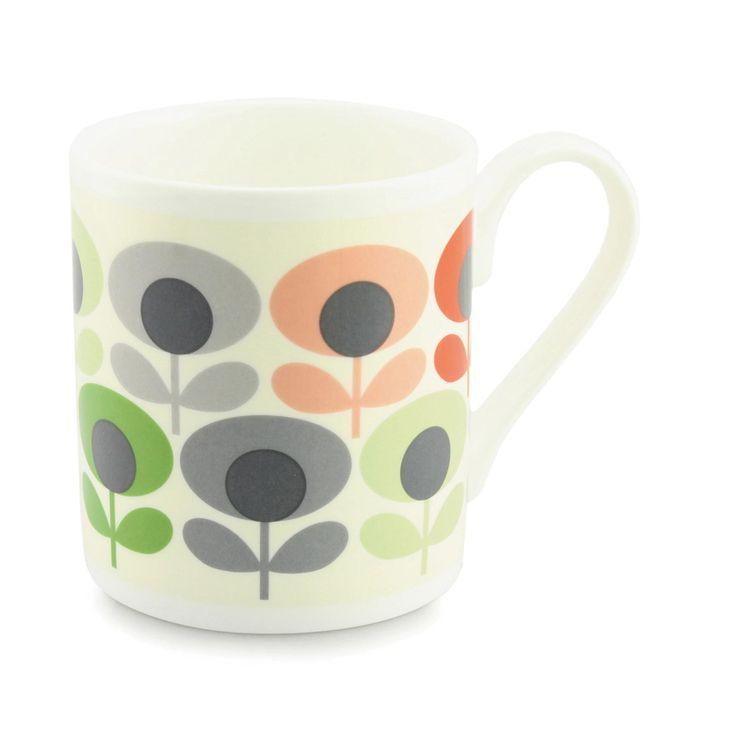 Cups & Mugs    Multi Flower Oval Mug- Multi