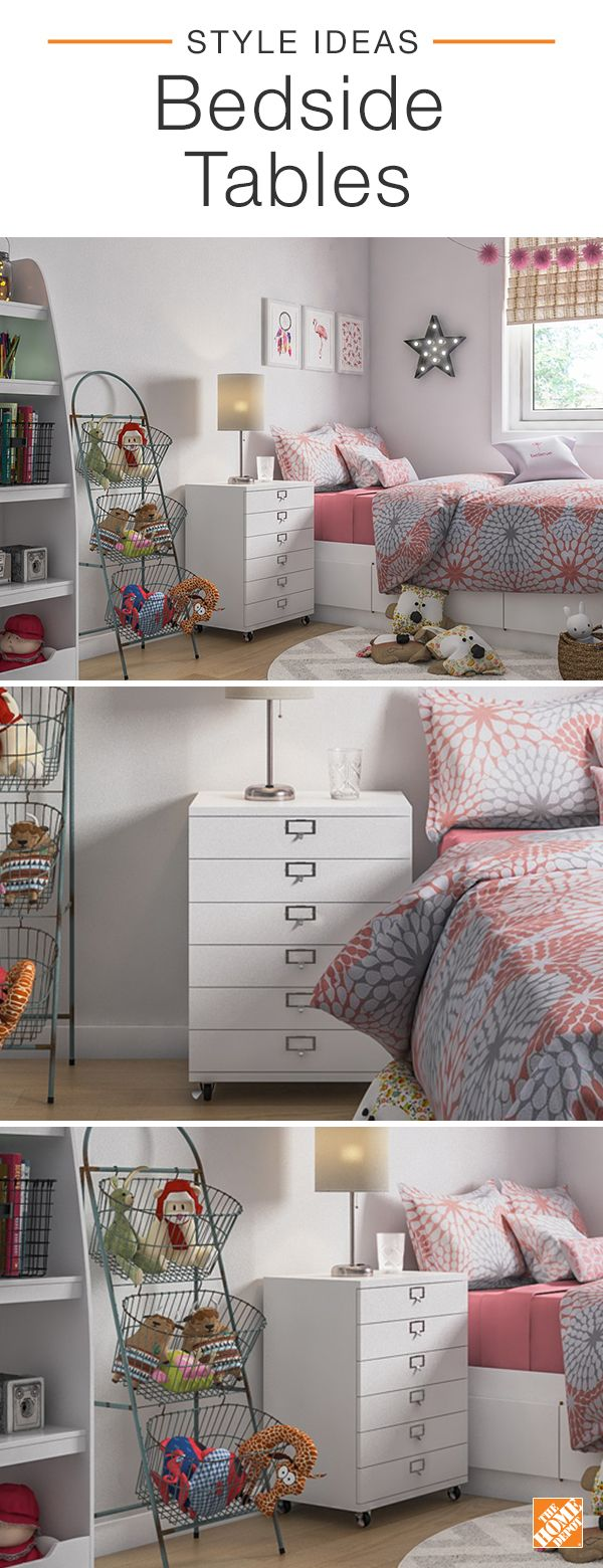 Find a bedside table for your kid's room that will grow with your family. The metal Becker Utility Cart is designed with plenty of drawers for unlimited storage and possibilities. Store reading material, articles of clothing or miscellaneous toys and trinkets. Style your nightstand with your bedtime essentials in mind, like space for your favorite book or nightly glass of water. Explore more ways to style your space.