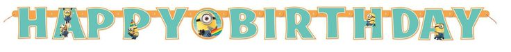 Despicable Me 2 - Jointed Birthday Banner from BirthdayExpress.com