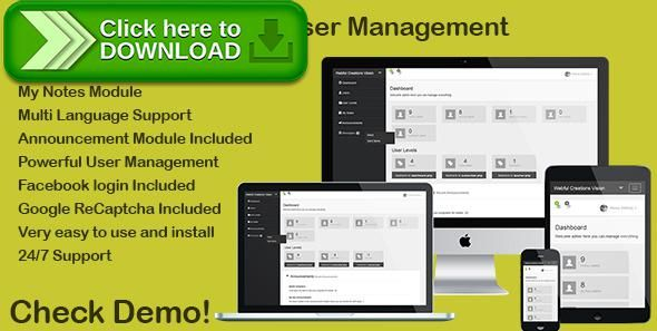 [ThemeForest]Free nulled download PHP Login & User Management with message center from http://zippyfile.download/f.php?id=50880 Tags: ecommerce, announcements, facebook login, login, login system, membership, message center, messages, php login system, php message, php user management, protect, restrict, secure, user levels, user management