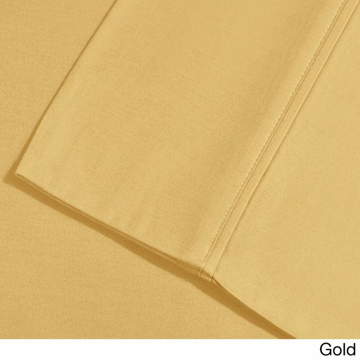 Gold Cal King Cotton Blend 1000 TC Deep Pocket Wrinkle-resistant Solid Sheet Set #Superior #CasualClassicContemporaryTraditional