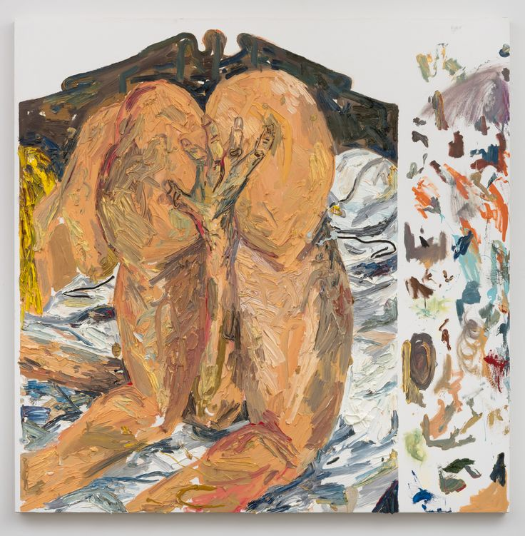 Alex Becerra Figures Come and Go 2016 Oil on canvas 64 x 64 in (162.56h x 162.56w cm) AB007