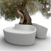 banc exterieur Sardana, banc rond design, @quiestpaul ?