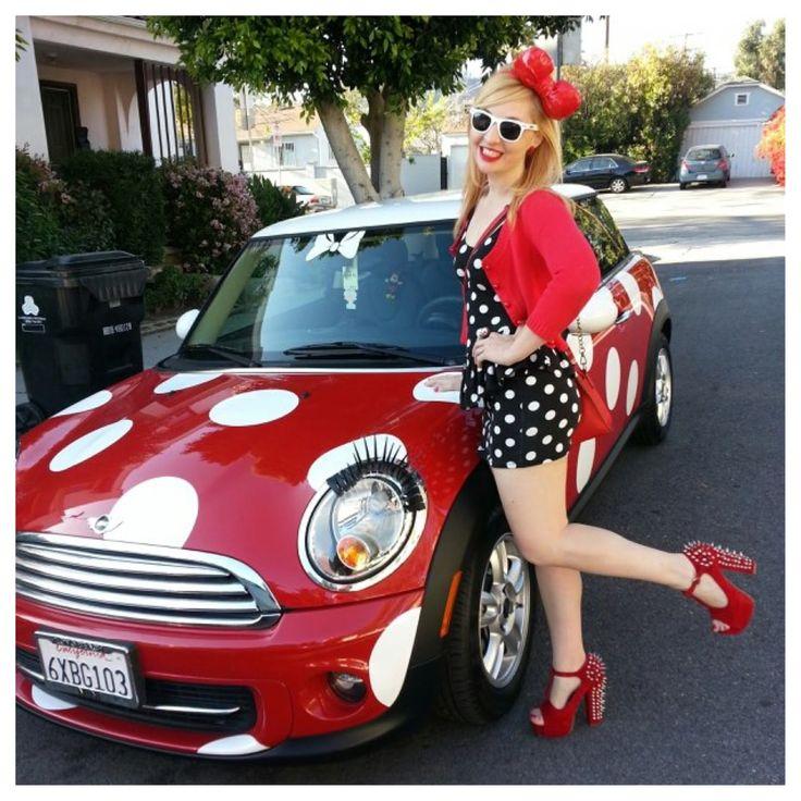 Just Cruzin in my polka dot car. @Heelusions #ReinventTheHeel