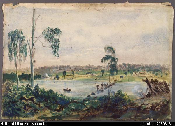 1837 Russell Melbourne from the falls.pic-an2969818 National Library
