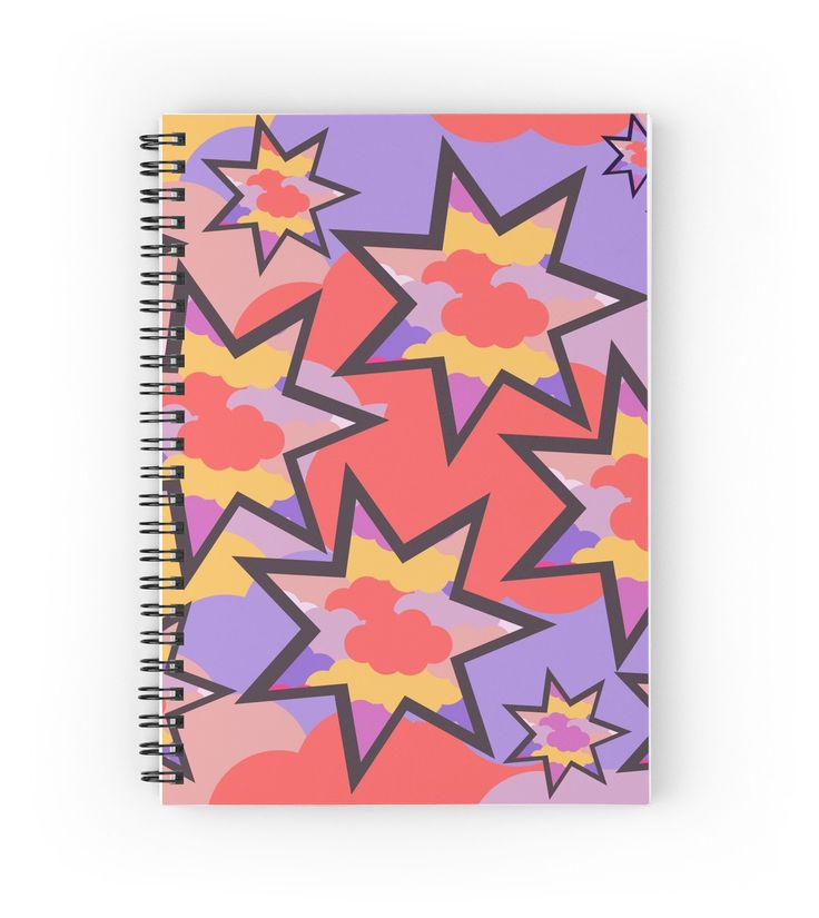 A beautiful #notebook, perfect for your #diary. #stars #clouds colors.
