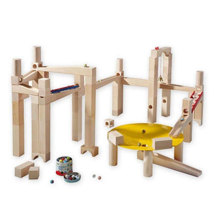 HABA Kugelbahn Meisterbausatz 3524  #HABA #Kugelbahn #Spielzeug #Kinderspielzeug #Meisterbausatz #Holzkugelbahn #Bausatz #76teilig #Metalltrichter #Wirbelwind #Murmeldose #Glasmurmeln #Metallmurmeln #ab3Jahren