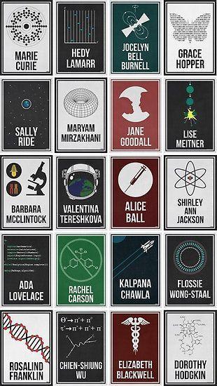 20 Frauen, die die Wissenschaft verändert haben. Und die Welt durch Wasserstoff…  # Retro-Futuristic Designs