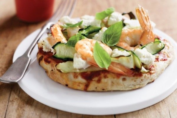Easy Prawn pizza