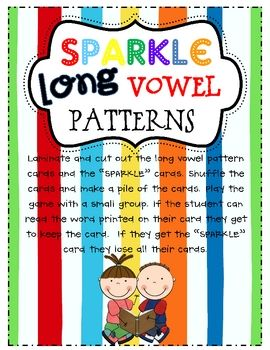 This decodable word game includes over 100 decodable word cards that review all of the long vowel patterns and incorporate blends and digraphs.  ...