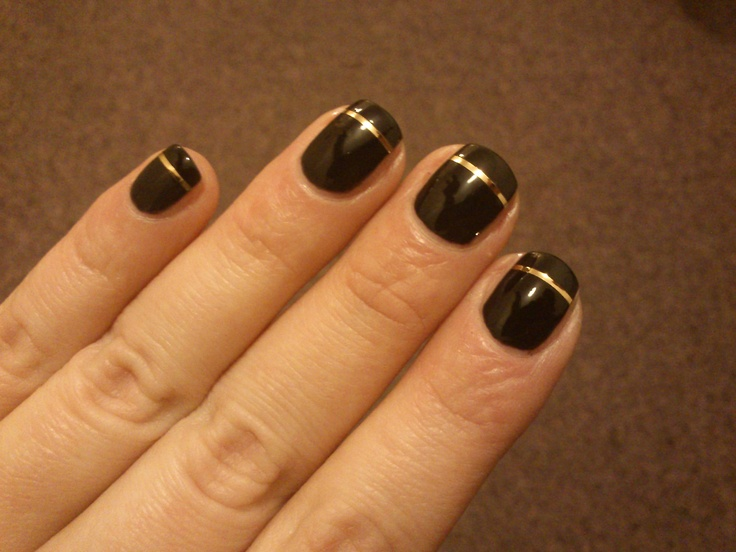 balck with golden stripes