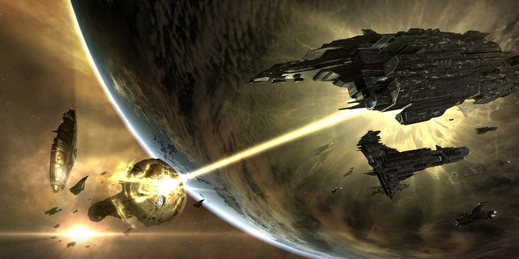 nice Eve On line players are battling it out in the largest conflict in gaming background