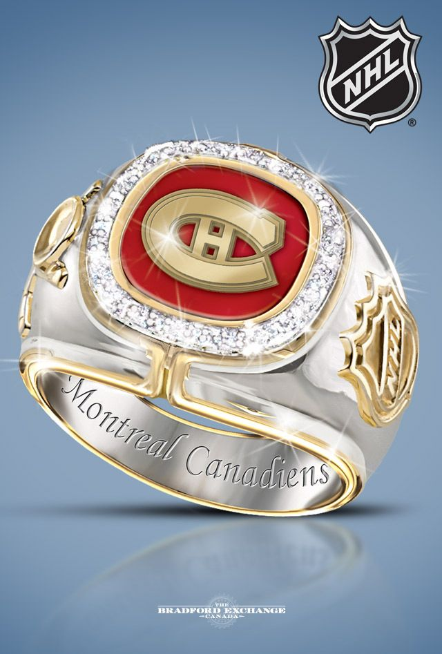 Wear a stunning tribute to your favourite NHL team with this officially-licensed Montreal Canadiens diamond ring. 20 genuine, brilliant-cut diamonds give this fine jewellery design its sparkle.