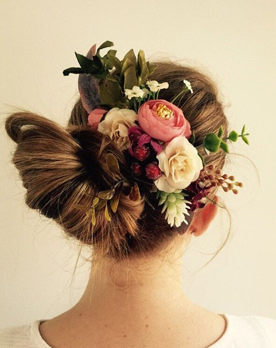 Australian Native Silk Flower Comb by WildflowerDesignsJH on Etsy
