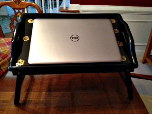 Recycle Old TV Trays ~ Transform Into a Laptop Desk