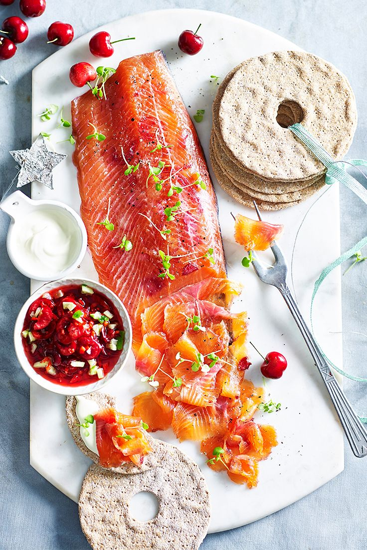 There's nothing as eye-catching as a piece of perfectly cured salmon on your dinner spread, and this modern take on the classic is sure to be a hit. You will need to begin this recipe at least 24 hours ahead.