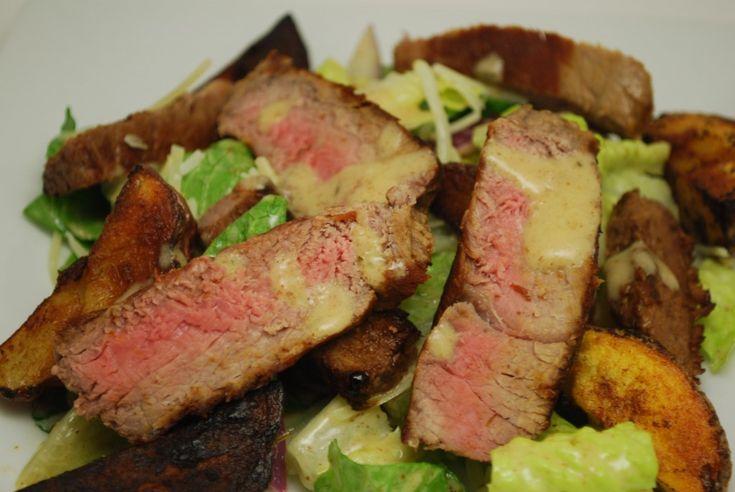 War Steak and Potato Salad