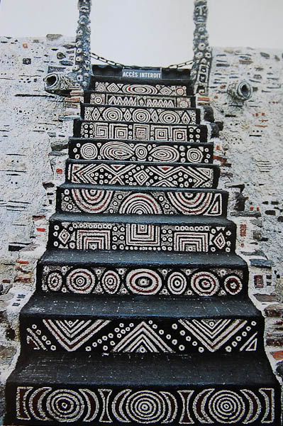 stairway at Musée Robert Tatin (Cossé-le-Vivien/ France), the onetime home of French outsider-artist Robert Tatin http://www.musee-robert-tatin.fr