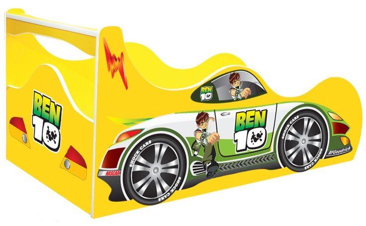 """• КРОВАТИ МАШИНЫ Shock Cars """"Кровать машина BEN 10"""" Кровать машина BEN 10 желтая"""