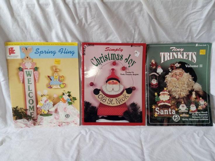 Lot of 3 PROVO CRAFT Vintage Books Christmas Joy, Tiny Trinkets, Spring Fling #ProvoCraft
