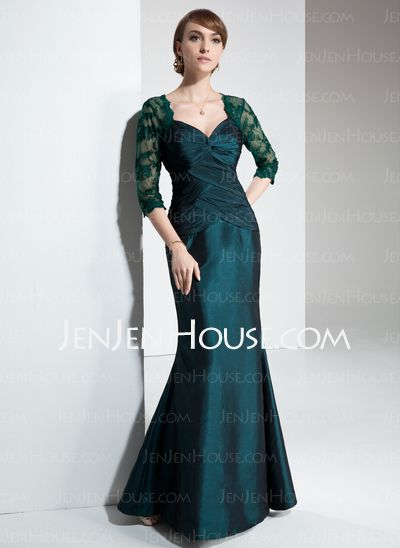 Mother of the Bride Dresses - $136.99 - Mermaid Sweetheart Floor-Length Taffeta Mother of the Bride Dresses With Ruffle (008005634) http://jenjenhouse.com/Mermaid-Sweetheart-Floor-Length-Taffeta-Mother-Of-The-Bride-Dresses-With-Ruffle-008005634-g5634