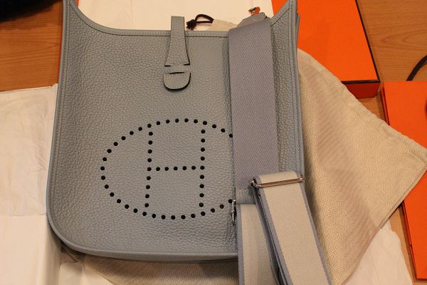 hermes birkin crocodile bag - HERMES Evelyne PM III with dual-color Amazone strap. P-stamped for ...