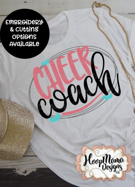 Cheer Coach – Embroidery and Cutting Options
