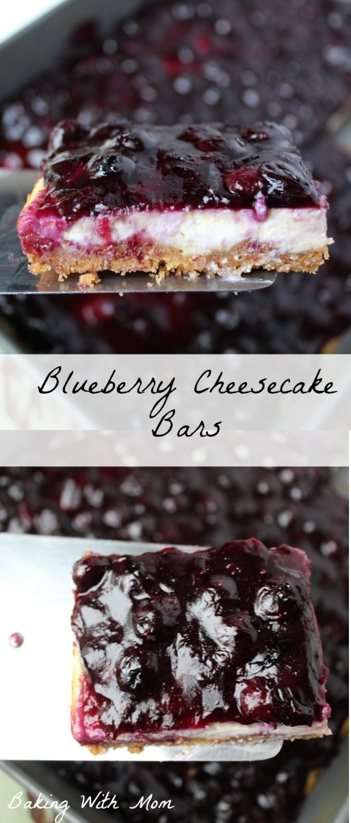 Easy Blueberry Cheesecake Bars delicious blueberries when a graham cracker crust. Great summertime treat