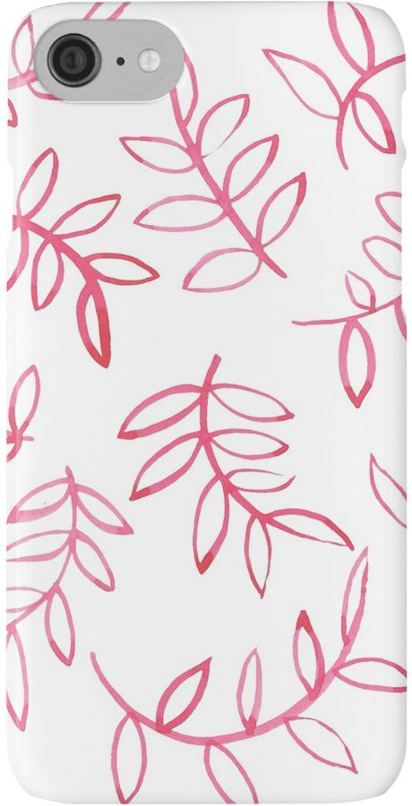 """""""Red floral leave and brunch. Pattern"""" iPhone Cases & Skins by russiangirl   Redbubble"""