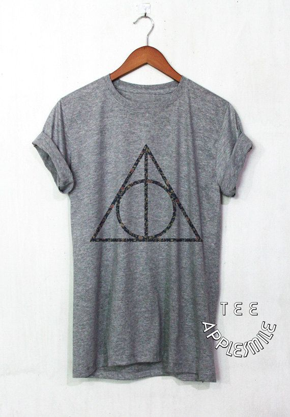 Reliques chemise à fleurs de la mort Harry Potter chemise fleur tee unisex t-shirt taille S à 2XL
