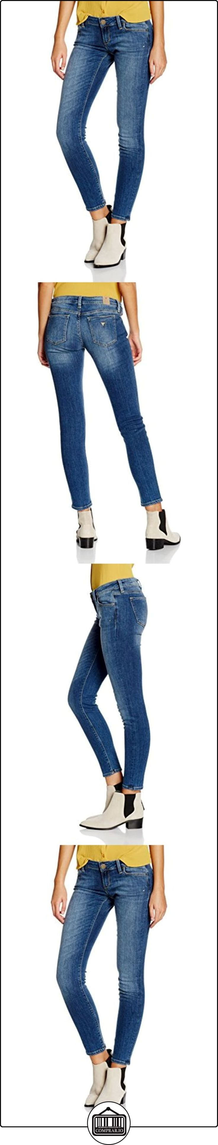 GUESS Skinny Ultra Low (NO Zip) -W62043D24J1, Jeans para Mujer, Azul (Itin Itinerary), 28  ✿ Vaqueros ✿