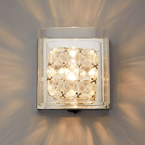 Buy John Lewis Vincenzo Square Crystal Cube Wall Light Online at johnlewis.com