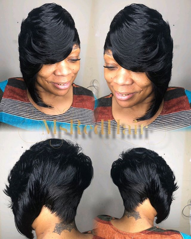 One Sided Bob Due To The Great Responses For The Quick Weave Special Special Until Christmas In 2020 Weave Hairstyles Braided Quick Weave Hairstyles Braids With Weave