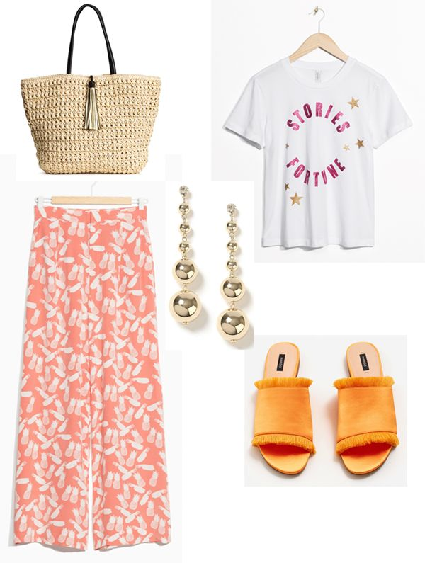 Oh those summer nights - How I will dress this summer http://gabriellalundgren.com/oh-those-summer-nights-how-i-will-dress-this-summer My summer look this summer. Bag from H&M, T-shirt and trousers from Andotherstories, Shoes from Mango and earrings from Miss Selfridge.