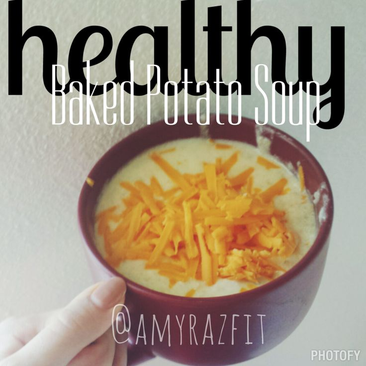 21 day fix approved vegetarian clean eating healthy baked potato soup recipe!