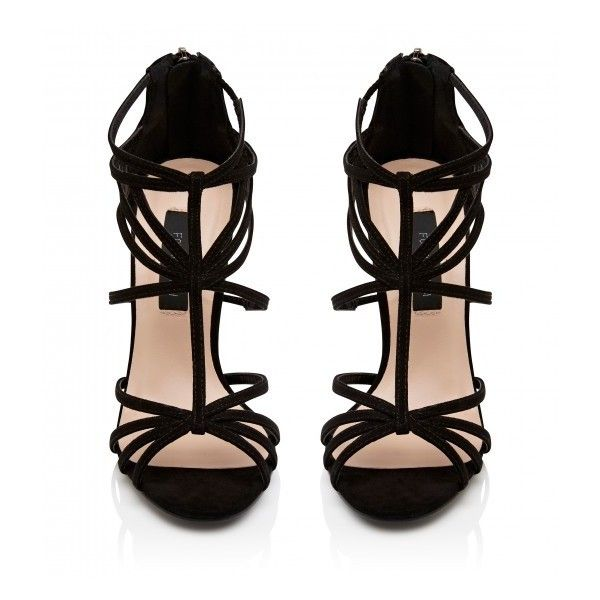 Forever New Roxie Caged Heel (590 UAH) ❤ liked on Polyvore featuring shoes, heels, sandals, forever new, cage heel shoes, flat shoes and forever new shoes