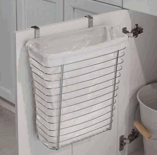 A Cabinet Door Wastebasket | 33 Insanely Clever Things Your Small Apartment Needs