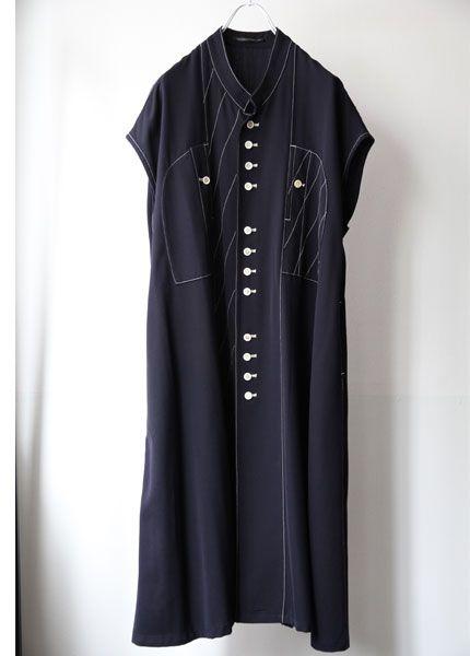 3845e13c9e9af  古着 YOHJI YAMAMOTO ヨウジヤマモト ステッチデザインロングワンピース - LUMIERE VIVE セレクトショップ