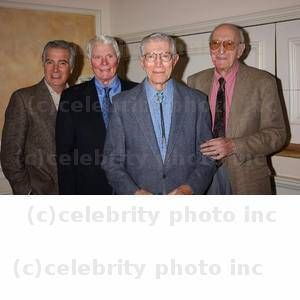 Brothers...Pictured on far right is actor Frank Campanella next to his younger brother actor Joseph Campanella. Also pictured is John McCook,on far left next to Peter Graves, Photo by Roger Karnbad