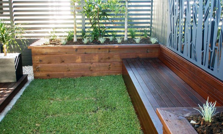 Back Yard Seating Bench with Planters