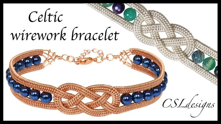 In this tutorial I show you how to make a beaded Celtic wirework bracelet. Please feel free to give it a go yourself and I hope you enjoy. --------------- Am...